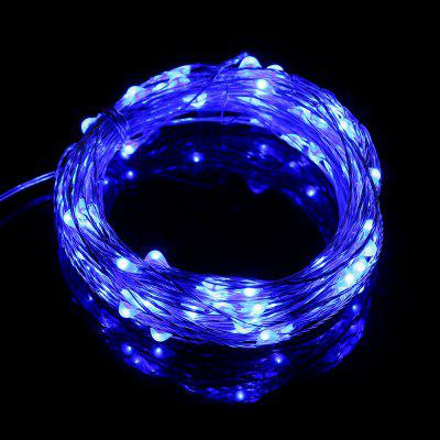 Gearbest Utorch 5m 50-LED Decoration String Light - BLUE 5M with Battery Box for Festival
