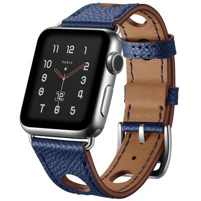 Hole Design Leather Men's Strap for Apple Watch 42mm