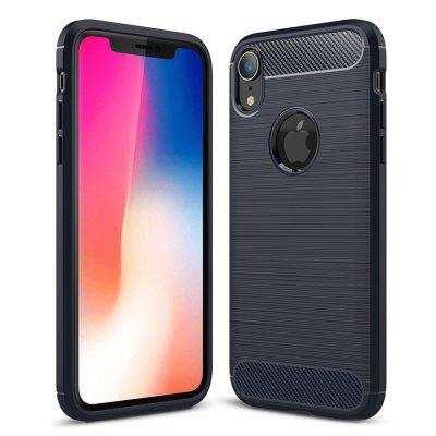 Carbon Fiber TPU Soft Cover Phone Case for iPhone XR