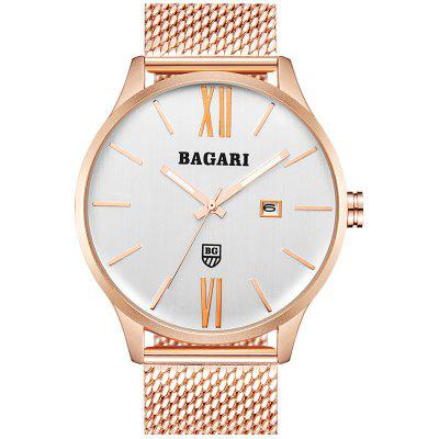 BAGARI Concise Design Waterproof Quartz Watch