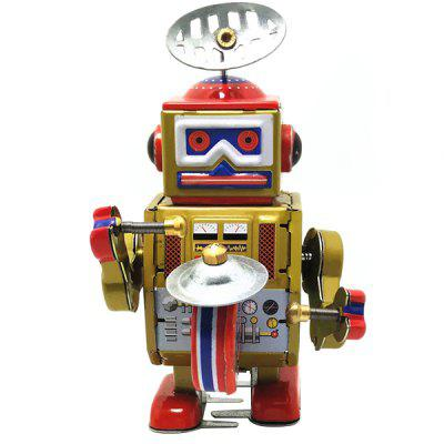 Kids Retro Clockwork Robot with Key Toy Gift
