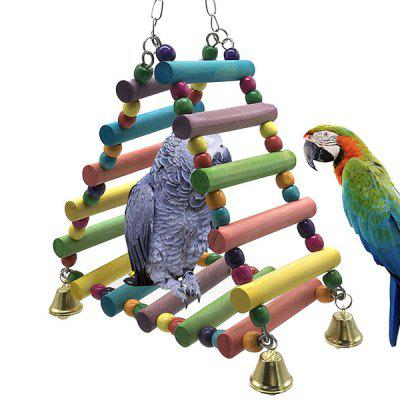 Pet Bird Toys Chew Cage Triangle Hanging Swing