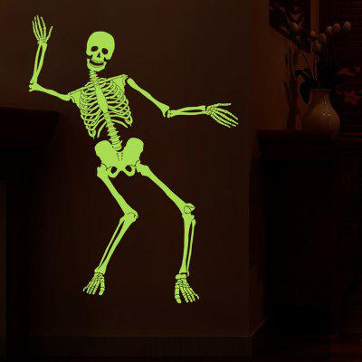 Nachtleuchtende Skeleton Pattern Wall Sticker