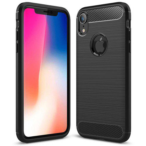 new concept cdeb5 8596e Carbon Fiber TPU Soft Cover Phone Case for iPhone XS Max