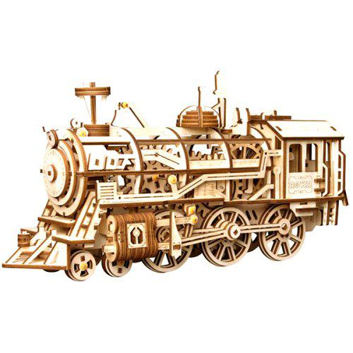 DIY Clockwork Locomotive Building Blocks Set Toy