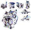 7 en 1 DIY Energía Solar Flota Espacial Multi-styling Science Toy Gift - BLANCO