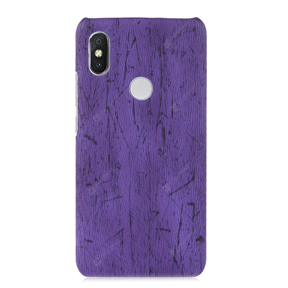 ASLING Wood Grain PU + PC Protective Phone Case for Xiaomi Redmi 6 Pro