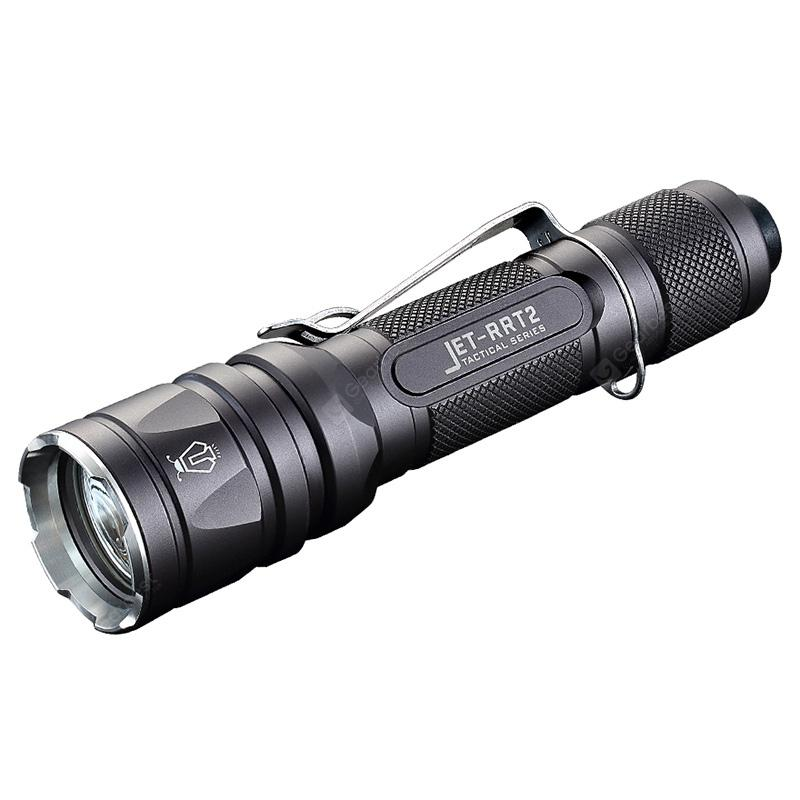 Jetbeam JET - RRT2 Portable LED Tactical Flashlight - BLACK
