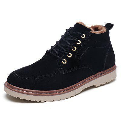Fashion Wear-resistant Brushed Lace-up Men Shoes Boot