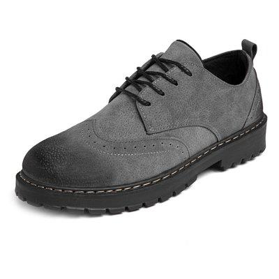 Homens PU Lace Up Sapatos Oxford Casuais
