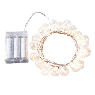 LED Copper Wire Round Bulb Christmas String Light