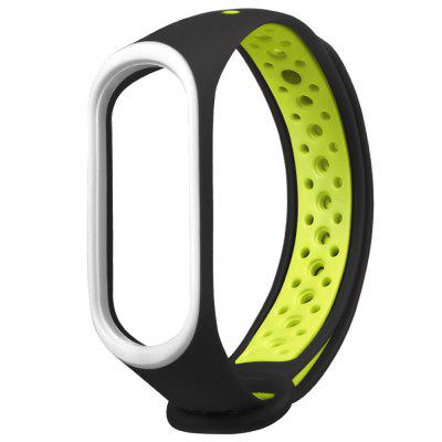 Two Color Blocks Holes Design Watch Strap for Xiaomi Mi Band 3