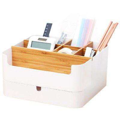 Multifunctional Double Layer Partition Storage Box with Drawer from Xiaomi youpin