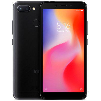 Gearbest Xiaomi Redmi 6 4G Smartphone Global Version - BLACK 3GB RAM 64GB ROM 12.0MP + 5.0MP Rear Camera Fingerprint Sensor
