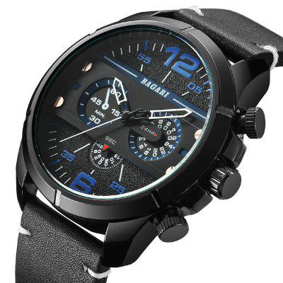 BAGARI 1695 Waterproof Male Quartz Watch
