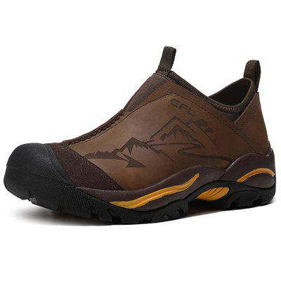 Genuine Leather Wearable Hiking Shoes for Men