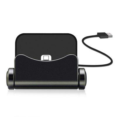 360 Degree Rotation 8-pin Mobile Phone Base Stand Charging Holder for iPhone