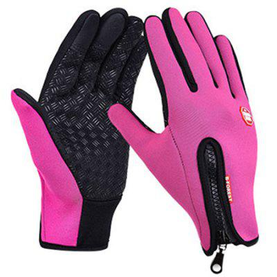 Pair of Outdoor Windproof Full Finger Cycling Gloves
