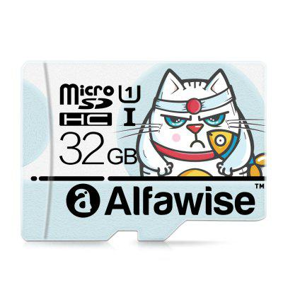 Alfawise 32GB Micro SD Class 10 UHS-1 Memory Card - LIGHT BLUE