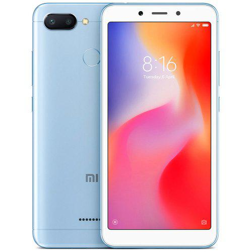 Gearbest Xiaomi Redmi 6 4G Smartphone Global Version - BLUE 3GB RAM 64GB ROM 12.0MP + 5.0MP Rear Camera Fingerprint Sensor
