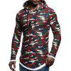 Male Long Sleeve Casual Sweatshirt Pullover Hoodie - RED