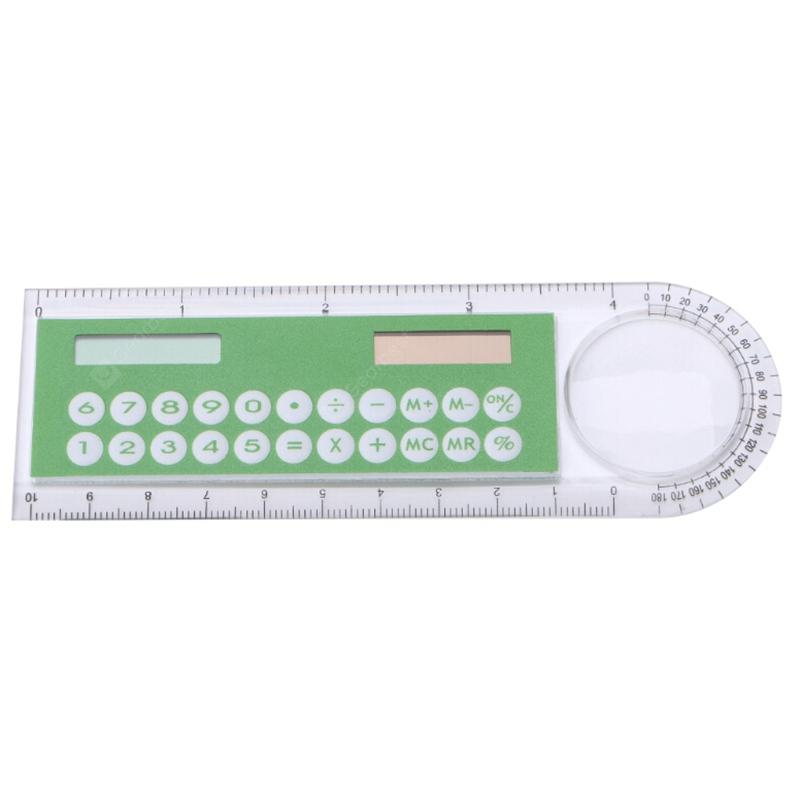Portable Solar Energy Ruler Calculator Office Stationery for Student