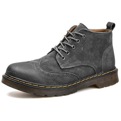 Fashion Winter Leather Martin Boots for Man
