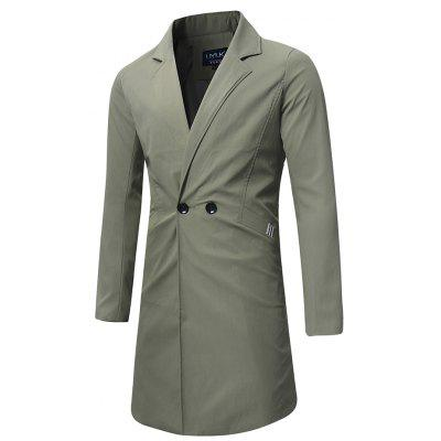 Winter lange trenchcoat voor heren