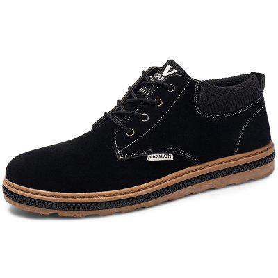 Men Lace Up PU Leather Casual Shoes