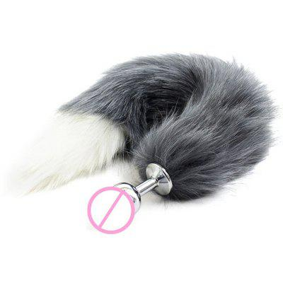 Stainless Steel Anal Butt Plug Faux Tail Sex Toy for Women