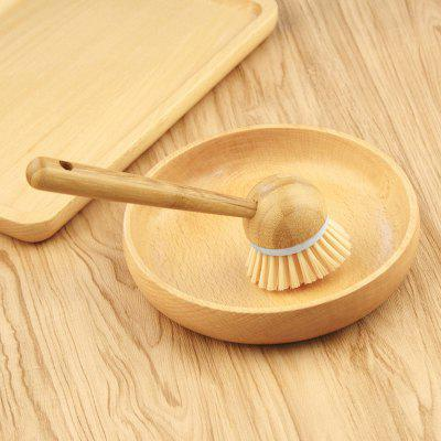 Natural Bamboo Handle Brush for Cleaning Pot Dish Bowl