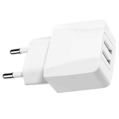 2-port USB Fast Charger Power Adapter EU Plug