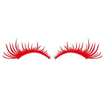 Eyelash Face Angel Eyes for Headlight Vehicle Decal Sticker 2pcs