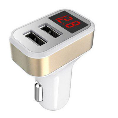 Carregador Smart Car Universal Dual USB com Display Digital