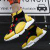Trendy High Top Slip-on Ventilate Sneakers for Men - YELLOW