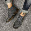 Fashion Winter Leather Martin Boots for Man - GRAY