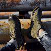 Fashion Winter Leather Martin Boots for Man - ARMY GREEN