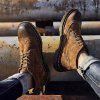 Fashion Winter Leather Martin Boots for Man - BROWN
