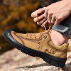 Male Outdoor Wearable Lace Up Hiking Shoes - ORANGE GOLD
