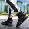 Trendy Breathable High Top Leisure Boots for Men - BLACK