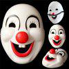 Clown Red Nose Cosplay Masque pour Halloween Cartoon Party Circus - BLANC