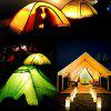 Outdoor Barbecue Multi-purpose Camping Tent Light 3pcs - RED