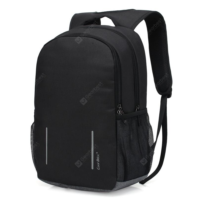 coolbell Unisex Business Laptop Shockproof Backpack - BLACK 15.6 INCH from Gearbest Image