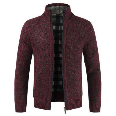 Stylish Stand Collar Sweater with Zipper for Men