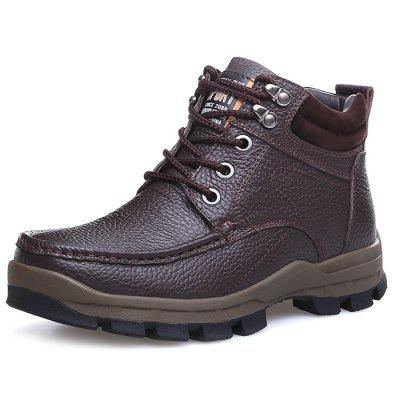 Men's Fashion Solid Color Leather Boots