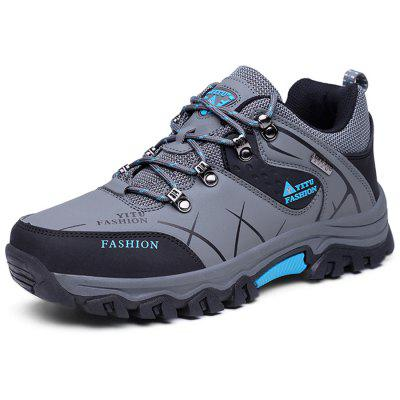 Men Outdoor Shock-absorbing Anti-slip PU Hiking Shoes