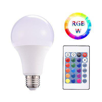 A80 RGBW Smart LED Bulb with Remote Control AC85 - 265V