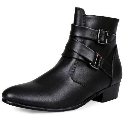 Wear-resistant Zipper Leather High-top Men Boots