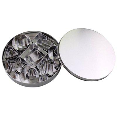 Stainless Steel Cookie Cutters 24 Pieces