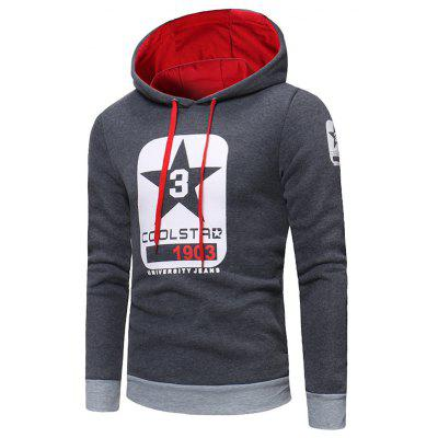 Fashion Printed Leisure Hoodie for Man